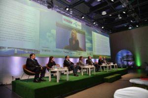 Участниците в първия панел, посветен на националните политики за зелени градове