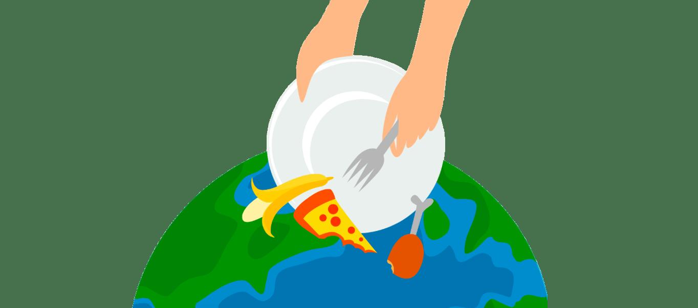 В същото време изхвърляме около 1/3 от произведената храна.
