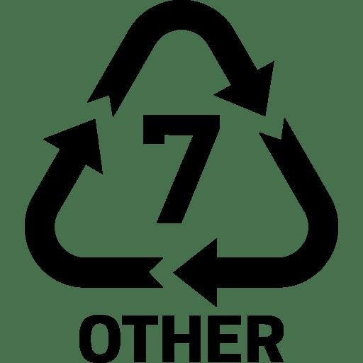 ДругиНай-често е смес от различни видове пластмаса.